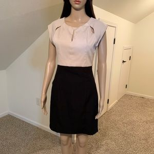 C. Luce Casual Office Formal Round Neck Mini Dress